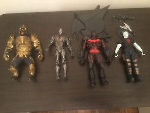 McFarlane DC Comics lot of 4 Cyborg chase, Gorilla Grodd, Batman, BloodShot Vin