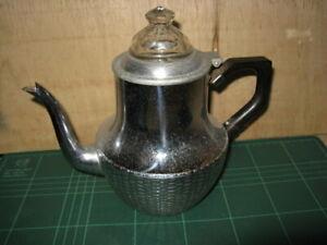 vintage swan stove top coffee perculator