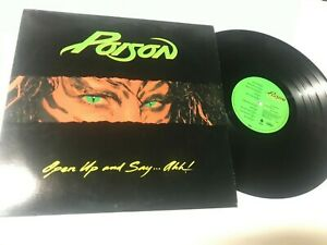 Poison Open Up and Say...ahh! w/inner Metal Record lp original vinyl album