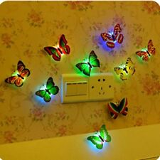 Color Changing Butterfly LED Light Night Lamp Fairy Party Decor Self-adhesive