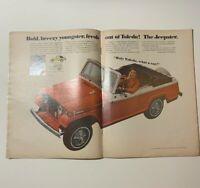 Original Vintage Magazine 1967 Newsweek Ad Kaiser Jeep Jeepster Danny Thomas