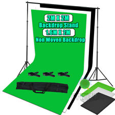 1.6x2m Photography Studio Non-woven Fabric Background Screen Backdrop 2x2m Stand