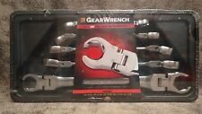 New! 81910 GearWrench 5 Piece SAE Flex Flare Nut Wrench Set