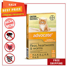 Advocate Orange Pack for Cats Upto 4 Kg 3 Pipettes Flea Heartworm Worm Control