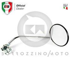 Coppia Specchietti FAR cromati Universali Moto D'epoca attacco a Fascetta Ø 22