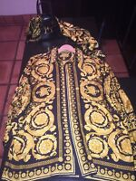 Gianni Versace Vintage 90's Silk Shirt with matching Silk Scarf