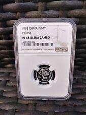 1995 China Panda 10 Yuan Platinum Panda NGC PF68UC