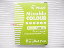 6 Special Formulated Light Green Ink Cartridges, Pilot Parallel Calligraphy Pen
