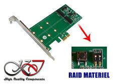 Carte Controleur PCIE RAID MATERIEL pour SSD M.2 NGFF type SATA - 2x SSD