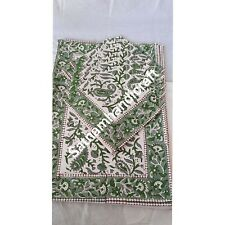 Indian Cotton Heavy Canvas Hand blockPrint Set Of 6 Dining Place Mat And Napkins