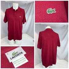 Lacoste Alligator Polo Shirt L Men Sz 6 Red Honeycomb Cotton LNWOT YGI H0-62