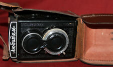 Vintage Soviet Russian Lomo Lubitel film camera with leather case
