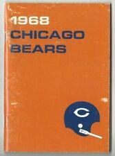 1968 Chicago Bears Football Media Guide, Gale Sayers Dick Butkus, Buffone FAIR