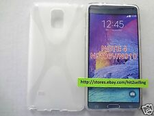 """Samsung Galaxy Note 4 """"X Pattern"""" Clear Soft  Snap-On TPU Case Cover USA Seller!"""