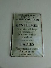 Our aim is to keep this bathroom clean Blechschild ca. 30 x 20  cm NEU OVP