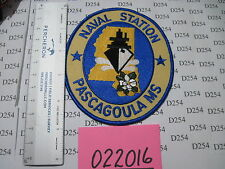 US NAVY USN NS PASCAGOULA MS Mississippi Naval Station Squadron Patch color