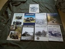 ARMY MOTORS Magazines-MVPA-LOT OF 9 ISSUES-Various ones; #48 to #106- INDEX 1-64