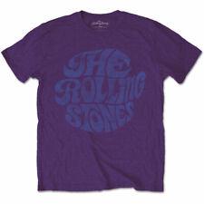 ROLLING STONES Vintage 70s Logo Mens T Shirt Unisex Tee Official Merch Purple