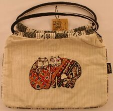 Laurel Burch Hobo Bag Patchwork Felines Linen New NWT