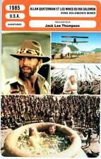 ALLAN QUATERMAIN MINES ROI SALOMON (Fiche Cinéma) 1985 - King Solomon's Mines