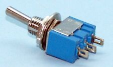 Miniature SPDT Center Off Toggle Switch Pack of 5 M103-5