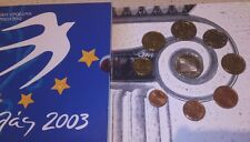 Cartera Grecia 8 valores + moneda de 10 euros proof 2003 .presidencia UE