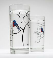 Bluebird Glassware - Set of 2 Everyday Drinking Glasses