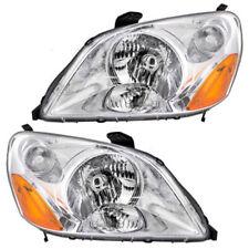 Headlights Headlamps Left & Right Pair Set NEW for 03-05 Honda Pilot
