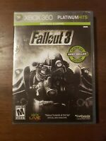 Fallout 3 (Microsoft Xbox 360, 2008) Platinum Hits Complete with Manual