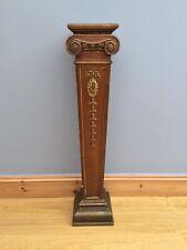 Antique Pedestal Plant Torchere Stand Ceramic Victorian Lamp Jardiniere Old Bust