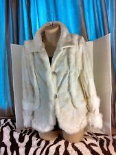 ASHRO White Jacket with Rhinestone Buttons, Polyester, Faux, Size 8