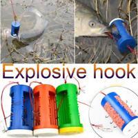 8*3.8CM Carp Fishing Bait Feeder PlasticCage Lead Sinker Swivel With Line Hooks