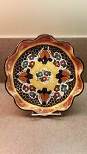 SIGNED MEXICAN TALAVERA ART POTTERY WALL PLATE PLAQUE HAND PAINTED