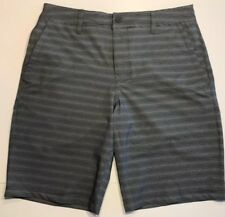 Hang Ten Mens' Hybrid Short, Grey Stripes, Size 42, NWT