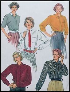 Vintage PUSSY-BOW BLOUSE / BLOUSE COLLECTION Sewing Pattern SIZE 10 (S7073)
