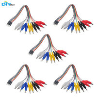 5set Alligator Clip to Dupont Wire 20cm Male Crocodile Clip for Arduino microbit