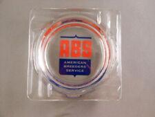 Rare Vtg ABS American Breeders Service Glass Ashtray Dairy Cow Bull Bovine