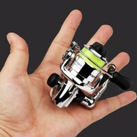 Mini Spinning Reel Metal Spool Small Winter Ice Fishing Reels Bearing mri#Rl