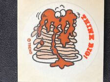 1 VINTAGE 80's TREND  THINK BIG ! PANCAKE MATTE  SNIFF  STICKER