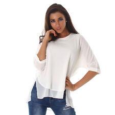 Sexy 2 in1 Pulli Pullover 3/4 Arm Top Shirt doppellagig  Größe 40  Weiß