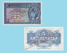 Poland 5 Zlotych 1939.  UNC - Reproductions