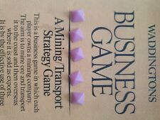 SPARES for Vintage Waddington's Business Game MINE A MILLION 5 Purple Pyramids