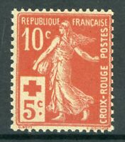 France 1914 Sower 10¢ + 5¢  Red SG #352 MNH P184 ⭐⭐⭐