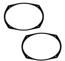 """New listing Metra 82-6902 Universal 1/2"""" Spacer for 6"""" x 9"""" Speakers -White (shown in Black)"""