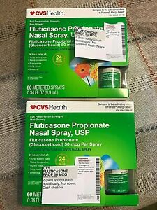 FLUTICASONE PROPIONATE NASAL SPRAY,USP~CVS HEALTH~NEW/SEALED~QTY 2~NON-DROWSY