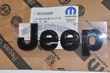 2014-2016 Jeep Wrangler Front Grille Emblem Nameplate Black new OEM 68228508AA