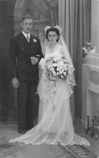 Granby Quebec~Wedding Portrait~Bride & Groom~Lavigne Photographer~1945 RPPC