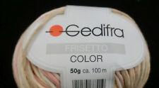 (79,00 €/kg): 500 Gramm Frisetto Color von  Gedifra, Farbe 8801 gelb rosa  #1389