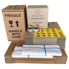 50Moving Box Cardboard Packing Boxes Removal Moving Storage Heavy Duty Carton