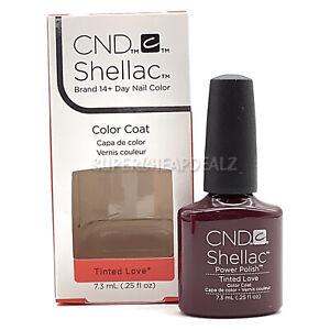 CND Shellac Color Coat - Tinted Love - 7.3 ml / 0.25 oz NIB AUTHENTIC